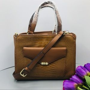 Tommy Hilfiger Convertible Satchel brown brand new